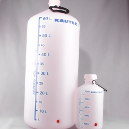 Plastic Carboy Series 350 HDPE with Blue Graduations Complete with Screw Closure with Stopcock Connection
