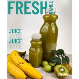 Square FRESH Plastic Juice and Smoothie Bottle PET