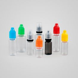 Clear PET  Bottle - Tamper Evident and Child Resistant Cap