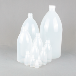 Narrow Neck Plastic Bottle Series 301 LDPE - (Standard Cap, Dropper Cap, or Washbottle closure options)