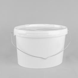 6 Litre Oval White Plastic Buckets/Pails