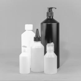 Swipe HDPE Plastic Bottle    (Natural, White or Black)