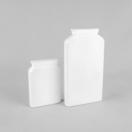 Plastic Postal Pack Container with Lid (Requires Induction Heat Sealing Machine)