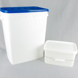 Rectangular Plastic White Bucket/Pail