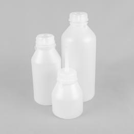 Round Heavy Duty Wide Neck HDPE Plastic Bottles