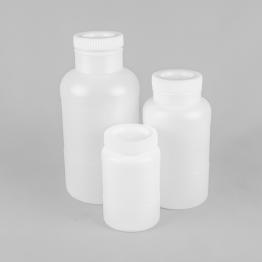 Round Wide Neck HDPE Plastic Bottles