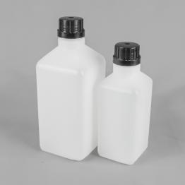 Square Tamper Evident HDPE Plastic Bottle