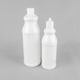 'Swirl' White Plastic Bottle