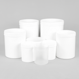 Wide Mouth Screw Top Plastic Jar / Pot (Natural or White)