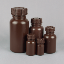 Wide Neck Plastic Bottle Series 303 LDPE - Brown / Amber