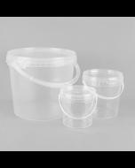 Round Transparent Buckets/Pails