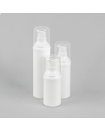 Round White Airless Bottle - Complete with White Pump (PUSH ON)