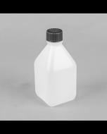 250ml Square Non Tamper Evident HDPE Plastic Bottle
