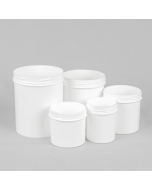 Wide Mouth Screw Top White Tamper Evident Plastic Jars