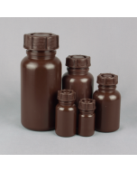 Wide Neck Plastic Bottle Series 303 LDPE - Brown / Amber