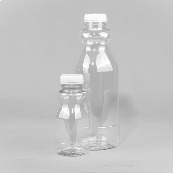 Square FRESH Plastic Juice and Smoothie Bottle PET